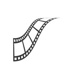 Film strip icon movie design graphic vector