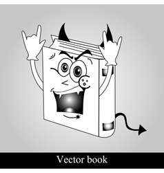 Funny book on grey background vector
