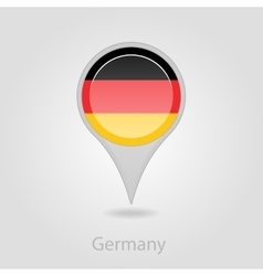 Germany flag pin map icon vector