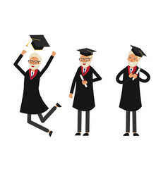 group of graduate students vector image