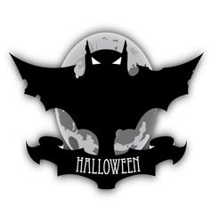 Holloween dark bat and moon vector