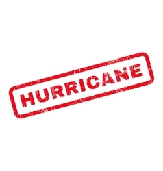 Hurricane Text Rubber Stamp vector image