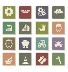Industrial icon set vector