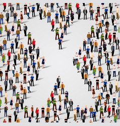 large group of people in letter x form vector image vector image