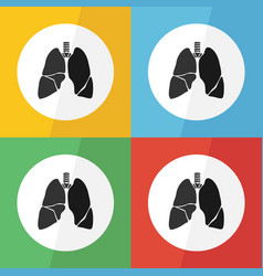 lung icon flat design vector image vector image
