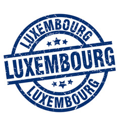 Luxembourg blue round grunge stamp vector