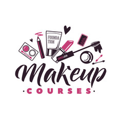 makeup courses logo of vector image