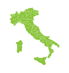 Map of italy divided into 20 administrative vector