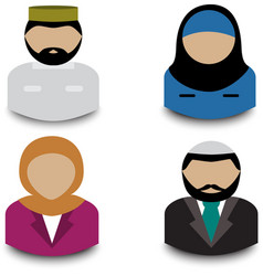 Muslim avatars vector