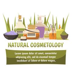 Natural cosmetology design composition vector