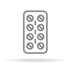 pills strip medicine icon in trendy thin line vector image vector image