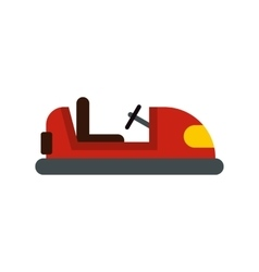 Red bumper car icon flat style vector