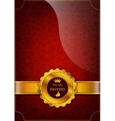 Red Invitation Design vector image vector image