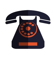 Retro telephone icon vector