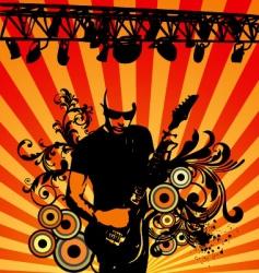 rock musician vector image vector image