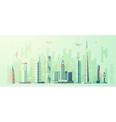 Saudi arabia skyline world tallest building vector