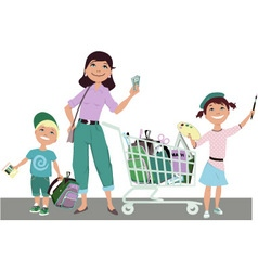 Save on back to school shopping vector image vector image