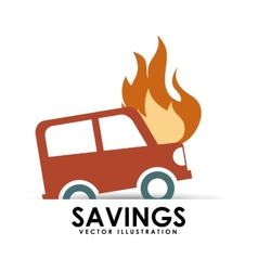 Savings car vector