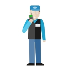 Security character in flat design vector
