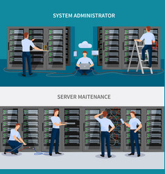 server maintenance banners set vector image vector image