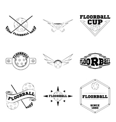 Set Floorball logo for the team and the cup vector image