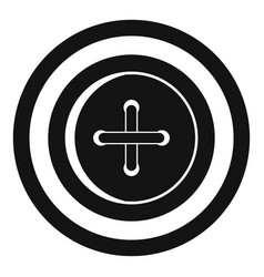 Sewing button with a thread icon simple style vector