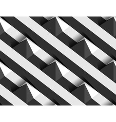 Striped 3d pyramid hills seamless pattern vector