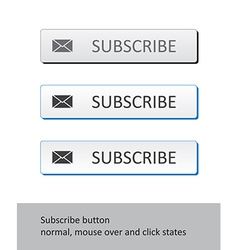 Subscribe button states vector image