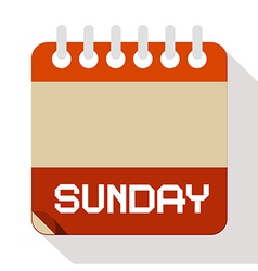 Sunday Paper Calendar vector image