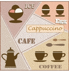Theme of coffee vector image