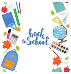 vertical seamless borders of education items vector image vector image