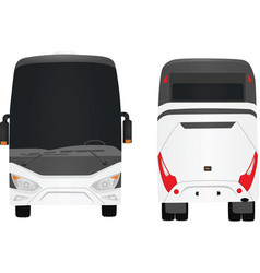 white bus vector image