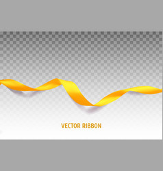 Yellow ribbon vector