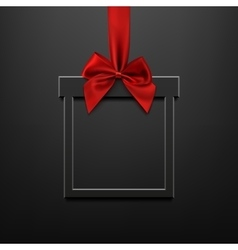Blank black square banner in form of christmas vector