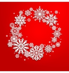 Christmas and new years background with snowflakes vector