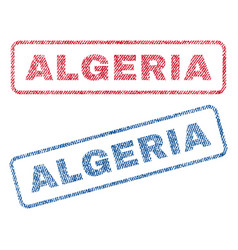 algeria textile stamps vector image