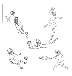 Set of athlete different sports vector