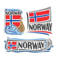 Logo for norway vector