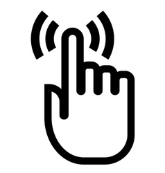 Touch finger icon vector