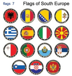 Flags of south europe vector