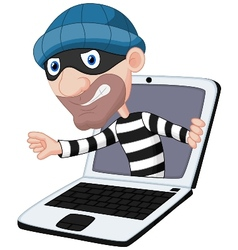 Computer crime cartoon vector