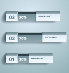 Percent infographic chart design template vector