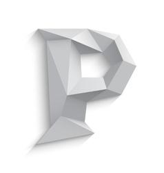 3d letter p on white vector