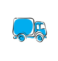 Truck icon animated delivery car vector