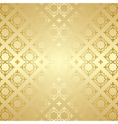 Seamless background with golden ornament vector