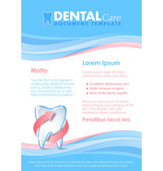 Dental document template vector image
