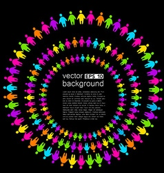 Background template with colorful people vector