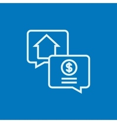 Real estate transaction line icon vector