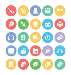 Electronics icons 6 vector