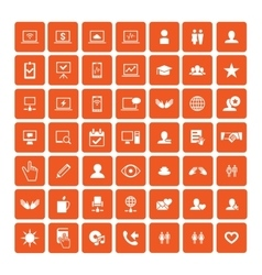 Set of 49 universal icons business internet web vector